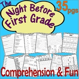 The Night Before First Grade : Back to School Comprehension Book Companion Unit
