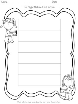 The Night Before First Grade- Lesson Plan
