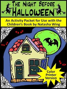 Halloween Reading Activities: Night Before Halloween Activity Packet