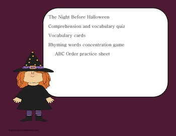 The Night Before Halloween 2nd Grade Literacy