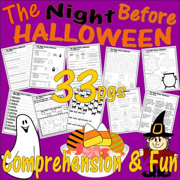The Night Before Halloween * Book Companion Reading Comprehension Literacy Unit