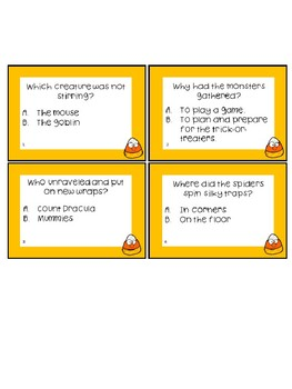 The Night Before Halloween Worksheets and Task Cards