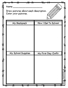 The Night Before Kindergarten - Back to School Unit