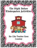 The Night Before Kindergarten Book Activities - Back to School