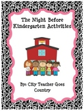 The Night Before Kindergarten Book Activities - Back to School