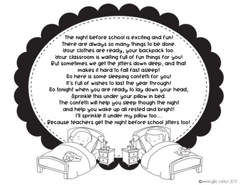 The Night Before Kindergarten Book Companion