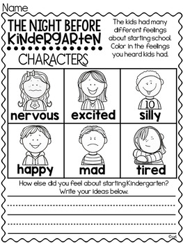 The Night Before Kindergarten Book Study ~ by Natasha Wing