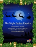 The Night Before Physics (A Night Before Christmas Physics Review Parody)