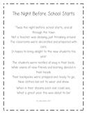 The Night Before School Starts