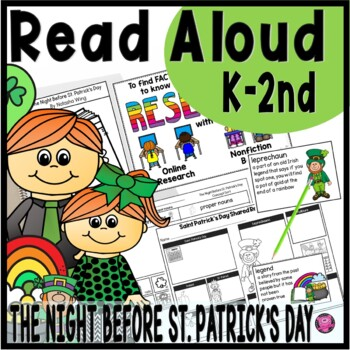 The Night Before St Patricks Day Read Aloud Lesson Plans with  STEM Challenge