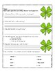 The Night Before St. Patrick's Day Literacy Activities
