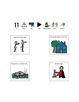 The Night Before St. Patrick's Day- Picture Supported Comprehension Questions