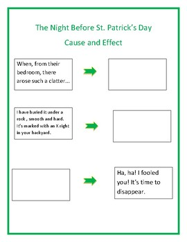 The Night Before St. Patrick's Day Read Aloud Lesson Plan: Cause and Effect