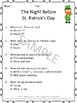 The Night Before St. Patrick's Day Worksheets and Task Cards