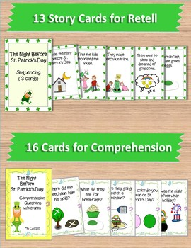 """""""The Night Before St. Patrick's Day"""":  Book Companion for Speech Therapy"""
