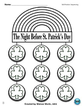 The Night Before St. Patrick's Day Sequencing Activity