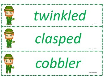 The Night Before St. Patrick's Day Speech & Language Companion Packet