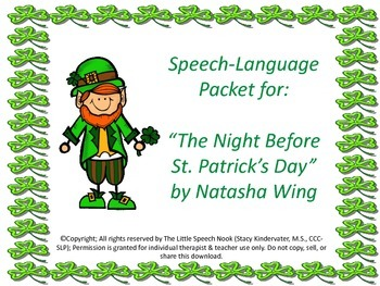 The Night Before St. Patrick's Day Speech & Language Compa