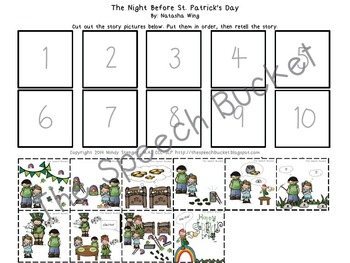 The Night Before St. Patrick's Day – Speech and Language Activities