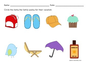 The Night Before Summer Vacation Activity Pack
