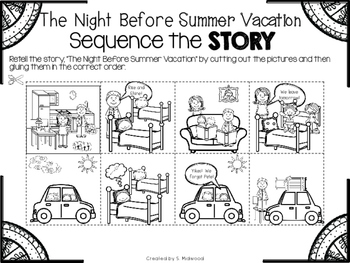 The Night Before Summer Vacation Extension Activities