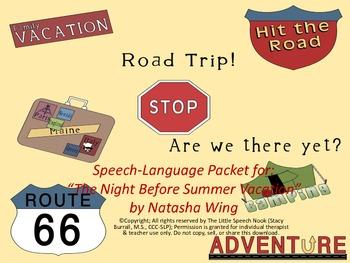 The Night Before Summer Vacation Speech & Language Companion Pack