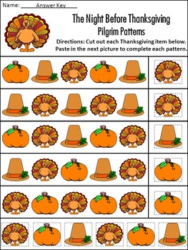 Thanksgiving Reading Activities: The Night Before Thanksgiving Activity Packet