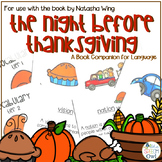 The Night Before Thanksgiving A Book Companion for Language