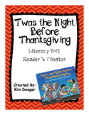 The Night Before Thanksgiving Readers Theater and Literacy Unit