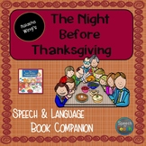 The Night Before Thanksgiving Speech & Language Book Companion