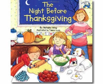 The Night Before Thanksgiving - Story Visuals [speech therapy and autism]