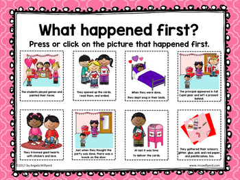 Valentine's Day: The Night Before Valentine's Day Sequencing Activity