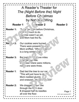 The Night Before the Night Before Christmas - Reader's Theater Companion