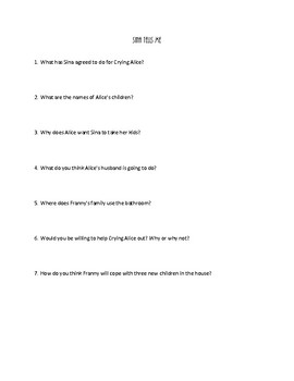 The Night Garden by Polly Horvath COMPREHENSION QUESTIONS