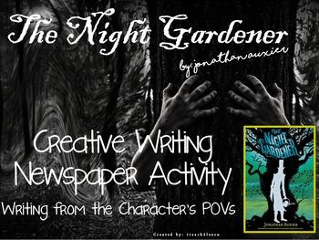 The Night Gardener - Creative Writing - Activities