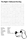 The Night I Followed the Dog Word Search