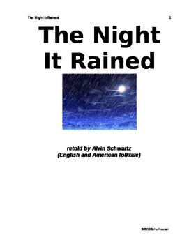 The Night It Rained Lesson Plan