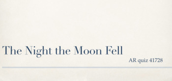 The Night The Moon Fell keynote