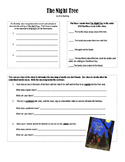 The Night Tree Comprehension Exercise