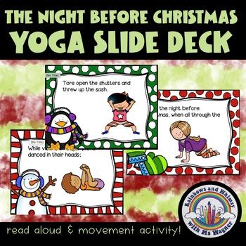 The Night before Christmas Yoga Read Aloud Slide Deck