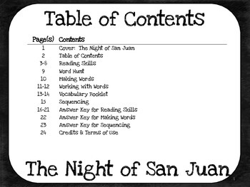 The Night of San Juan  5th Grade Harcourt Storytown Lesson 6