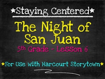 The Night of San Juan  5th Grade Harcourt Storytown Lesson 6