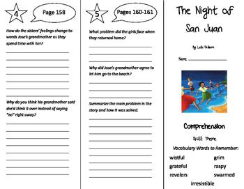 The Night of San Juan Trifold - Storytown 5th Grade Unit 2 Week 1
