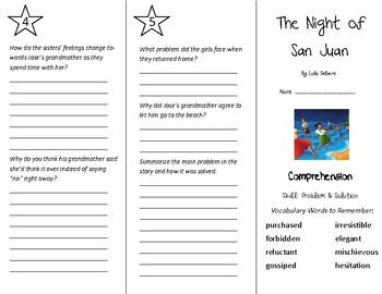 The Night of San Juan Trifold - Treasures 5th Grade Unit 1 Week 4 (2011)