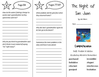 The Night of San Juan Trifold - Treasures 5th Grade Unit 1