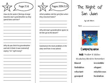 The Night of San Juan Trifold - Treasures 5th Grade Unit 2 Week 4 (2009)