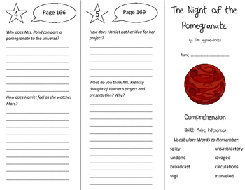 The Night of the Pomegranate Trifold - Treasures 6th Grade Unit 2 Week 2