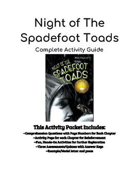 The Night of the Spadefoot Toads Activity Guide