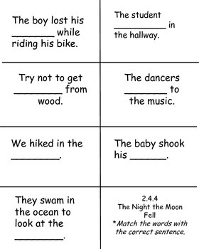 The Night the Moon Fell, Reading Street, High-Frequency Flap Book