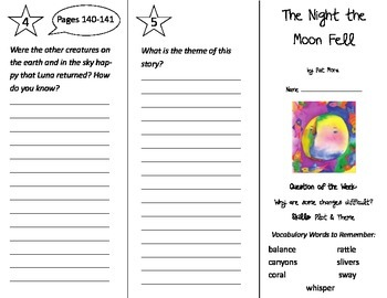The Night the Moon Fell Trifold - Reading Street 2nd Grade Unit 4 Week 4